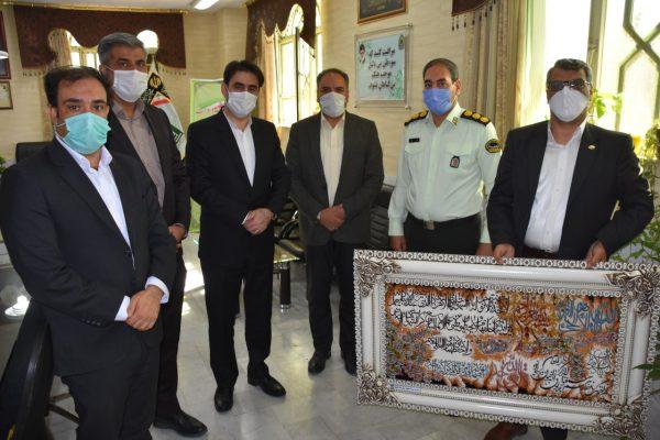 دیدار رئیس شرکت عمران گلبهار با فرمانده نیروی انتظامی چناران