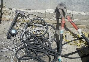سرقت کابل های تلفنی