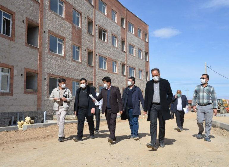 بازدید مشترک و بررسی مشکلات پروژههای مسکن مهر گلبهار