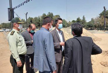 دستورات فرماندار چناران در خصوص بهبود روند اجرای پروژه میدان شهید سلیمانی
