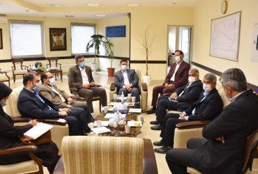 دیدار شهردار و اعضای شورای اسلامی گلبهار با سرپرست شرکت عمران گلبهار