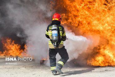 گزارش تصویری مانور بزرگ ایمنی وآتشنشانی در گلبهار